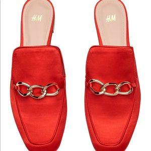 H&M Orange Slip On Loafers
